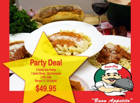 pasta chef party deal